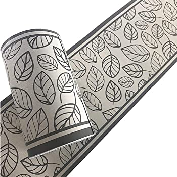 ba/ño10X1000CM Borde del papel pintado blanco azul Auto Adhesivo del Papel Pintado del PVC Cenefa autoadhesiva para decoraci/ón de pared de cocina