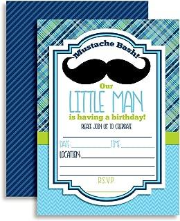 moustache bash invitation