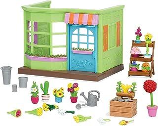 Li'l Woodzeez Animal Figurine Playset and Accessories - Li'l Blossoms Flower Shop - 31 Pieces