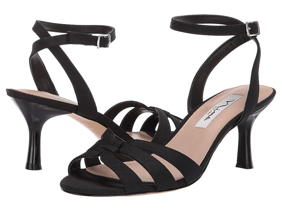 Nina Coralee (Black Mini Matte Faille) High Heels