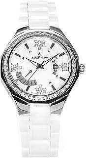 Stella Maris - STM15Y2 - Montre Femme - Quartz Analogique - Cadran Blanc - Bracelet Céramique Blanc