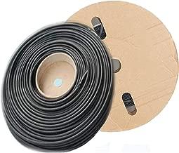 Vranky 100 Feet(30 Meter) 1/8inch(3mm) I.D Polyolefin 2:1 Black Heat Shrink Tubing