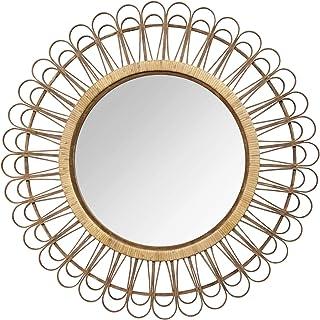 "Stratton Home Décor Stratton Home Decor 33.86"" Tulum Rattan Mirror, Pack of 1, Natural"