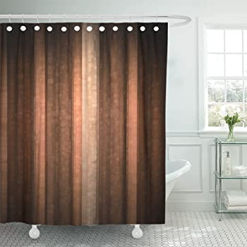 Amazon Com Ambesonne Earth Tones Shower Curtain Party