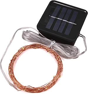 Magicnight Solar String Lights Garden Outdoor Led Starry String Light Copper Wire 15 Feet 50 Leds Waterproof For Patio Bonsai Wedding Party, Auto On/Off,Flash/Steady On Mode