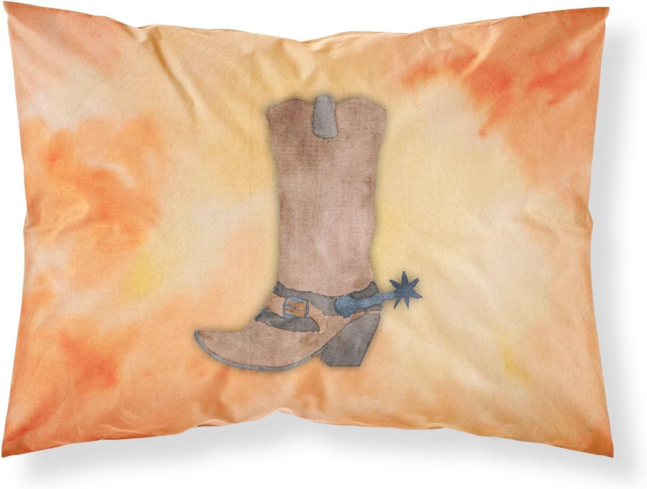 Caroline's Treasures BB7371PILLOWCASE Cowboy Boot Watercolor Fabric Standard Pillowcase, Standard, Multicolor