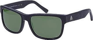 Leather sunglasses for Men, Women, Premium, The Dark sEYEd DS001 Dark Green Lenses, 60/17-138. (Black, Green)