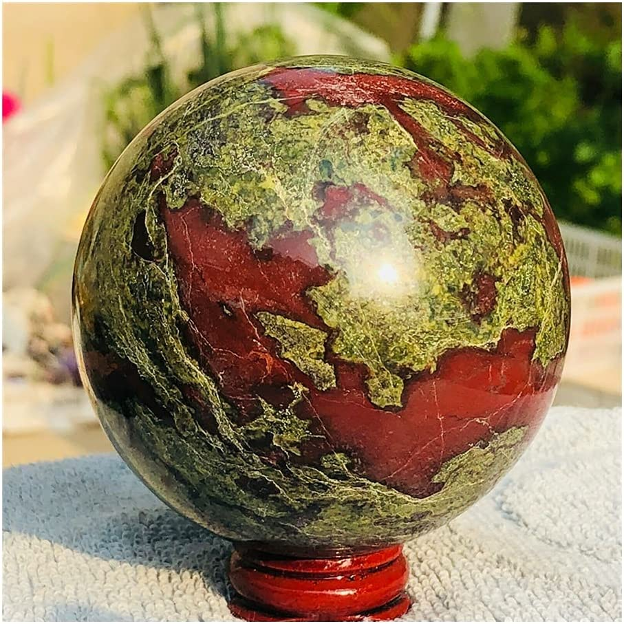 Natural The Dragon Finally Ranking TOP1 resale start Blood Stone Sphere Healin Crystal Quartz Ball