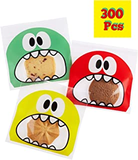 300 Pcs Cookie Candy Bags Self Adhesive Bakery Decorating Bags Biscuit Roasting Gift DIY Plastic Bag