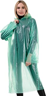 OFXDD Waterproof Pocket Plastic Rain Coat with Hood Unisex - Heavy Duty Packable Summer Poncho for Men and Women - Ponchos...