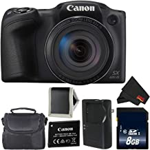 Canon PowerShot SX420 is Digital Camera (Black) 1068C001 International Model + 8GB Memory Card + Carrying Case - Bundle
