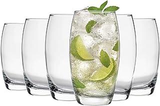Argon Tableware Tondo Highball Glasses - Modern Hiball Cocktail Juice Water Drinking Tumblers - Dishwasher Safe - 510ml - ...