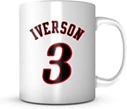 ALLEN IVERSON #3 Mug Philadelphia Basketball - Jersey Number Coffee Cup