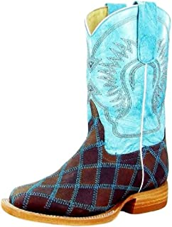 Anderson Bean Western Boots Boys Kids Patchwork Child Brown K1055