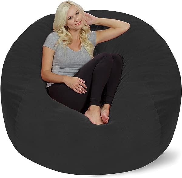 Chill Sack Bean Bag Chair Giant 5 Memory Foam Furniture Bean Bag Big Sofa With Soft Micro Fiber Cover Dark Grey Pebble