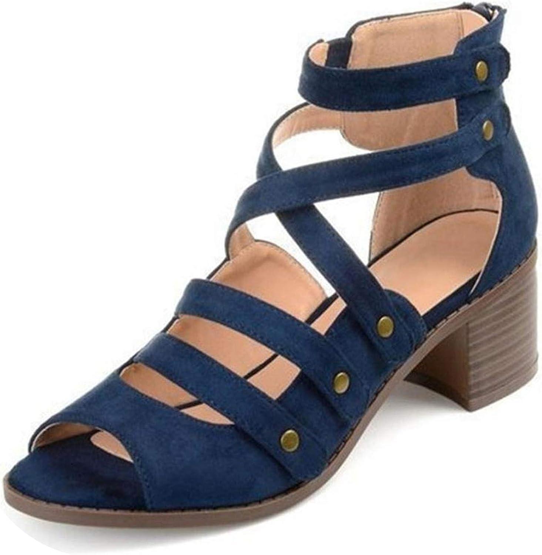 Meiguiyuan Women Gladiator Sandals Fashion Summer shoes Women Zipper Office Lady Sexy Party Footwear