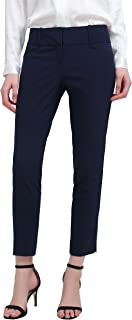 YTUIEKY Women's Pants Straight Fit Trouser Slim Casual Comfy Skinny Pants with Pockets