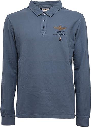 Aeronautica Militare 0137Z Polo hommes bleu Cotton Polo t-Shirt Man