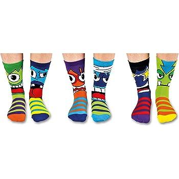 United Oddsocks - Boîte de 6 Chaussettes pour Garçon - Multicolore - 30.5/38.5 EU