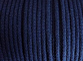 5 m Baumwollkordel 5 mm dunkel blau / marine
