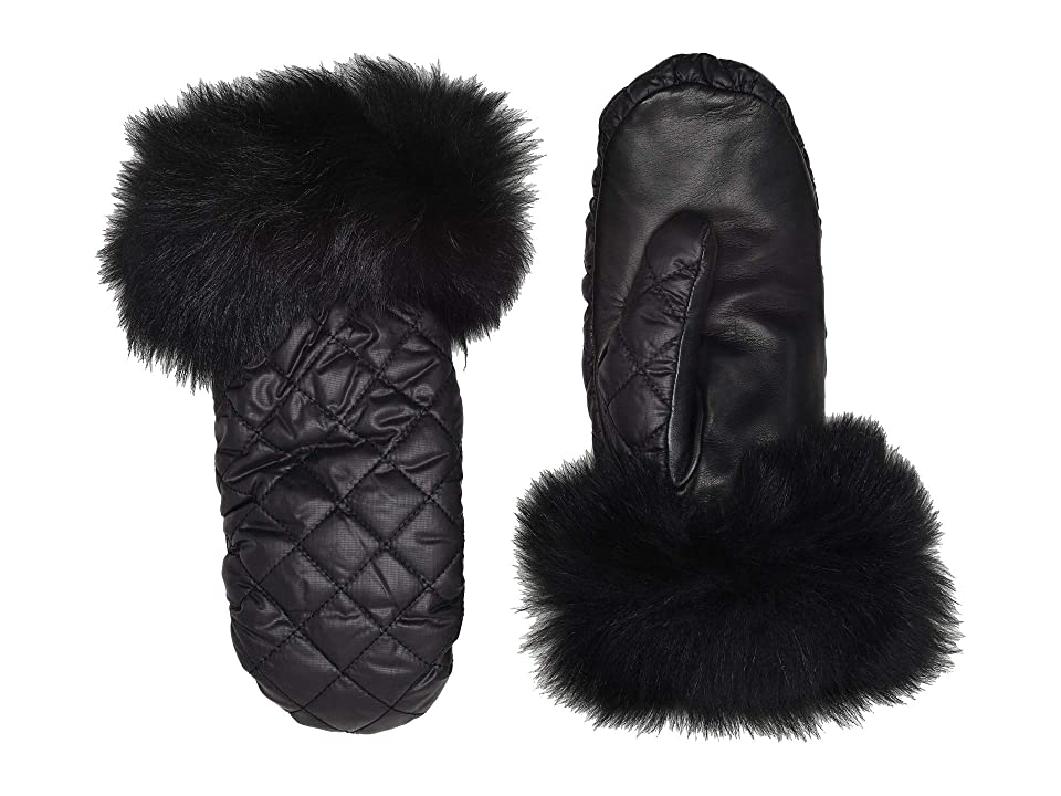 UGG Quilted All Weather Water Resistant Tech Mitten (Black) Extreme Cold Weather Gloves