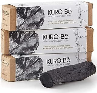 Kuro-bo Large Binchotan Charcoal Water Purifier Stick   Filters Up To 1 Gallon   5 x 1 Inches   3-pack