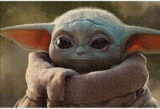 ABUKJM Puzzles pour Adultes 1000 Star Wars: The Mandalorian Baby Yoda Thèmes Puzzle Sets Movie Character Poster Puzzle Div...