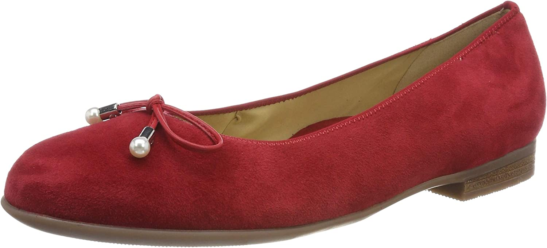 ARA Women's SARDINIA 1231324 Closed Toe Ballet Flats, Red Red 15, 9 UK