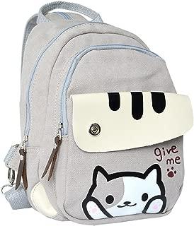 Anime Neko Atsume Multifunctional Shoulder Bag Knapsack Japanese Game Cat Backpack