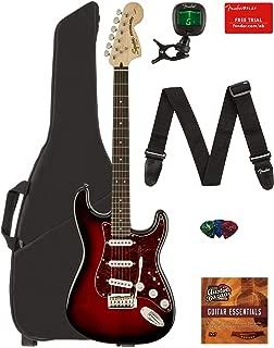 Fender Squier Standard Stratocaster Guitar - Laurel Fingerboard, Antique Burst Bundle with Gig Bag, Tuner, Strap, Picks, and Austin Bazaar Instructional DVD