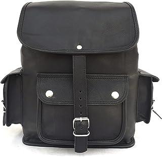 Black Leather Backpack Shoulder Bag, Women / Teen Girls Boys Rucksack Handbags, College School Books Bag, Casual Everyday ...
