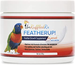FeatherUp! Bird Formula for Healthy Feathers | Nutrient-Rich Bird Vitamins for Vibrant Feather Growth | Supplements with B...