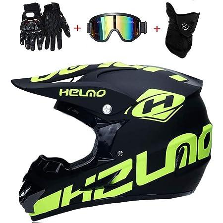 Syano Motocross Helm D O T Standard Downhill Helme Motorrad Crosshelme Endurohelme Mit Handschuhe Maske Brille Für Kinder Und Erwachsene S 54cm 55cm Auto
