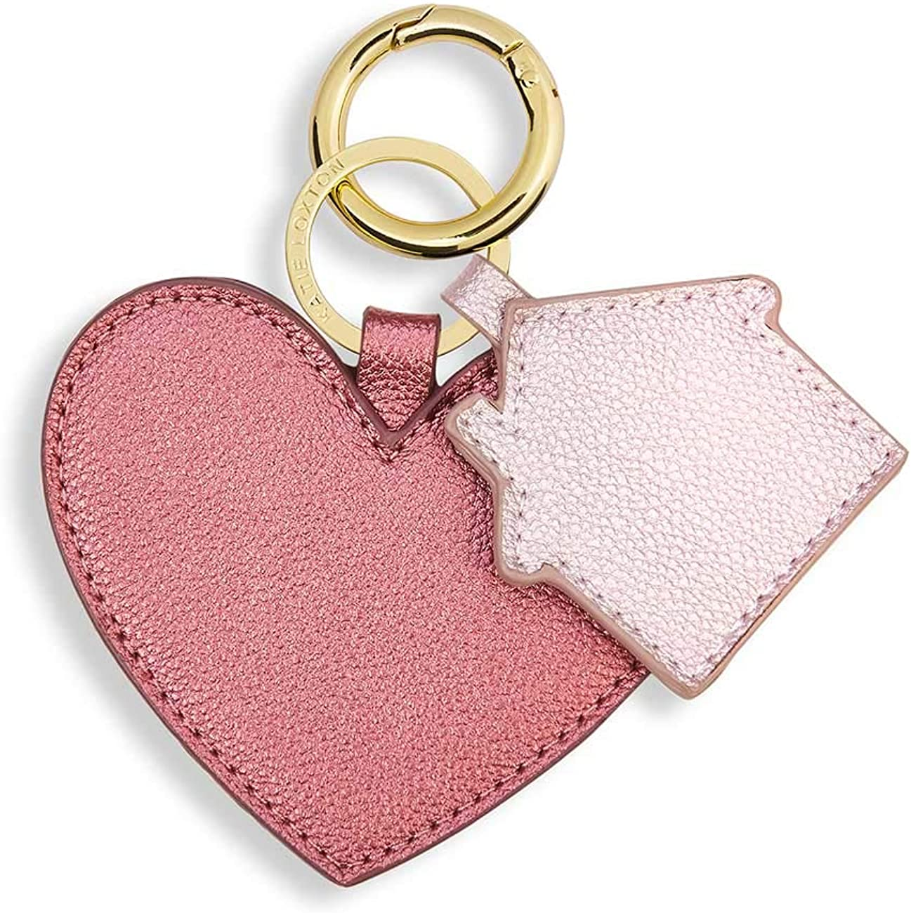 Katie Loxton 4 inch Luxe Heart & Home Shape Vegan Leather Fashion Keyring