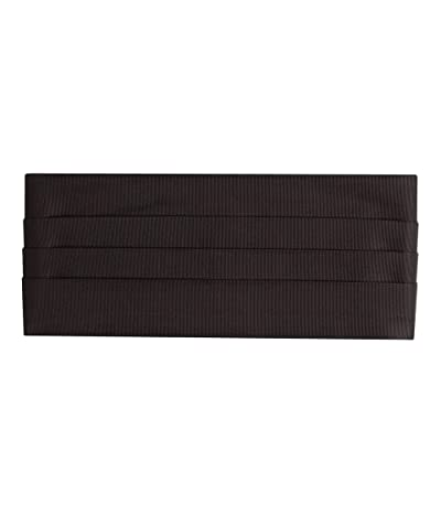 David Donahue Faille Cummerbund (Black) Men