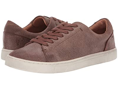 Frye Ivy Low Lace (Chocolate Waxed Vintage Suede) Women