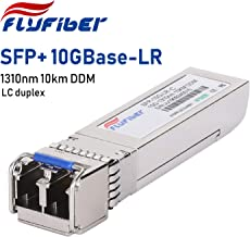 FlyFiber 10G SFP+ LC Single-Mode Transceiver,10GBASE-LR Module for Cisco SFP-10G-LR, Ubiquiti UF-SM-10G, Meraki MA-SFP-10GB-LR, Mikrotik, Netgear, D-Link (SMF, 1310nm, 10km, Dual LC, DDM)