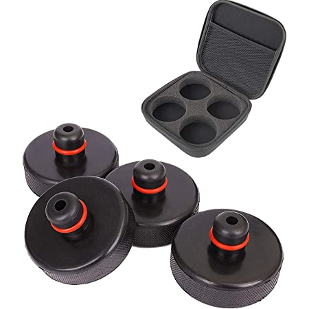 Chirano Lifting Jack Pads for Tesla Model 3// Model S//Model X//Model Y 4 Pcs with a Storage Case Tesla Accessories
