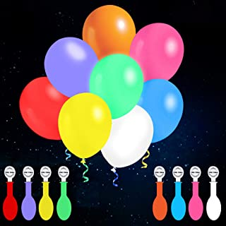 iFUNow 32 Pack LED Balloons Flashing, 8 Colors Light Up Balloons, Lasts 12-24 Hours for Glow in the Dark Party Supplies, B...