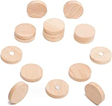 Wooden Bamboo Fridge Whiteboard Magnets - Beautiful, Cute and Unique Refrigerator and Office Magnets for Photos, Notes and Papers - Circle 16 Pack - Eye-Catching Decorations by Happy Gorilla Shop