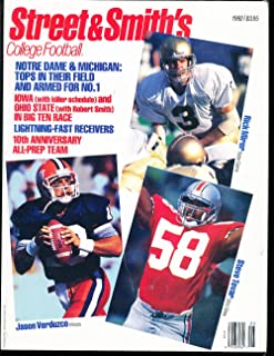 1992 Rick Mirer Notre Dame Street & Smith College Football Annual Guide bxss1