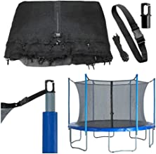 Trampoline Replacement Enclosure Net, Fits For 10 FT. Round Frames (All brands), Works with multiple amount of poles - Pole Caps Included