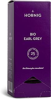J. Hornig Bio Tee Earl Grey, Tee im biologisch abbaubaren Pyramidenbeutel, 25 Tee-Sachets, Schwarztee mit Bergamottöl