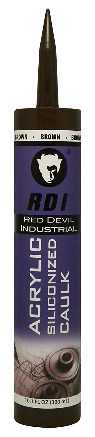 Red Devil 08464I RD Pro Construction Grade Siliconized Acrylic Sealant, 10.1 oz., Brown