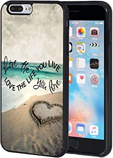 iPhone 8 Plus Case,AIRWEE Slim Anti-Scratch Shockproof Silicone TPU Back Protective Cover Case for iPhone 8 Plus 5.5 Inch,Beautiful Beach with Love