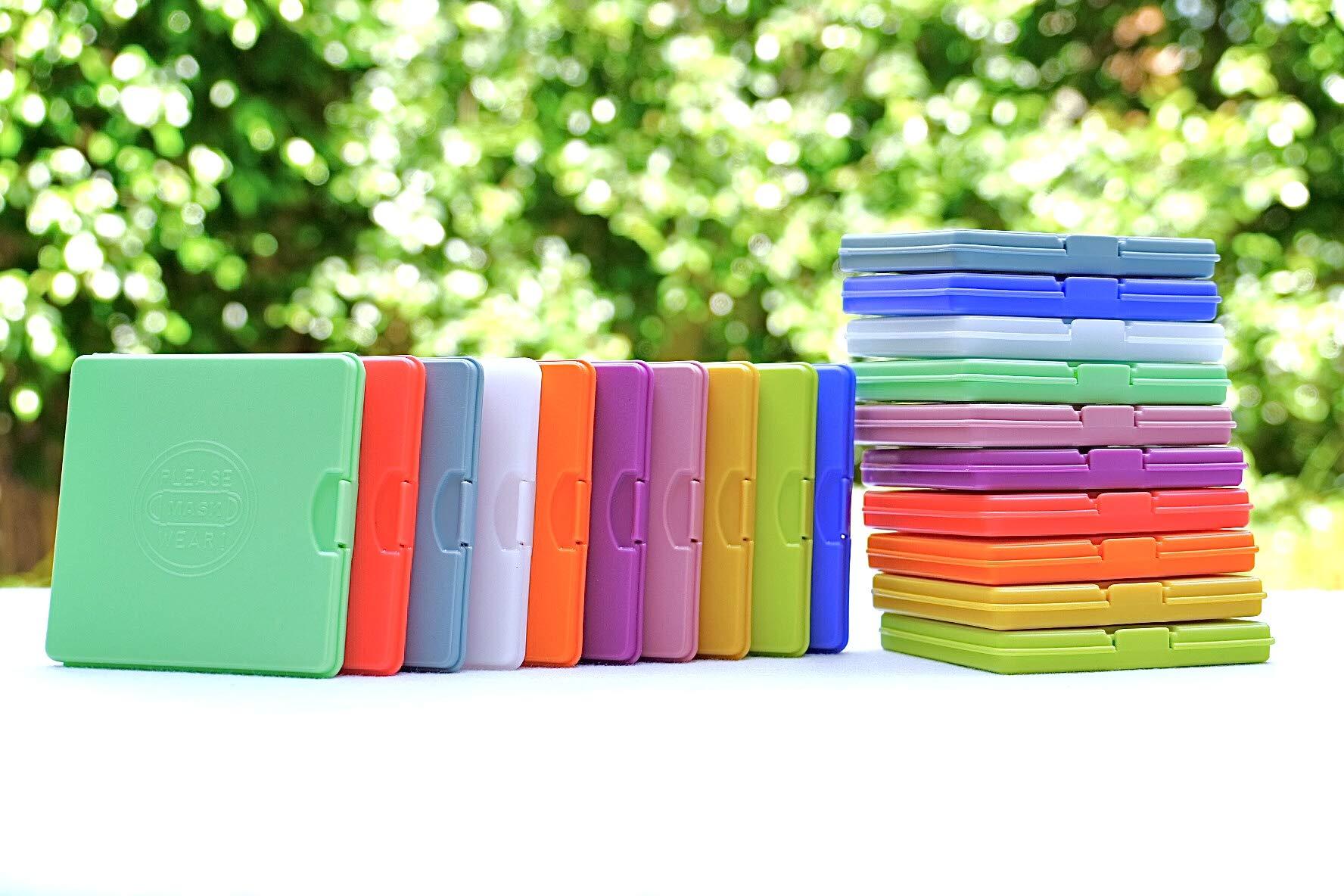 Estuche para mascarillas/Caja para mascarillas Marca SP Smart Plastic ® (Multicolor, 2 Unidades): Amazon.es: Hogar