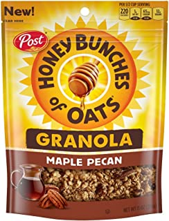 Sponsored Ad - Honey Bunches of Oats Maple Pecan Granola Cereal and Snack, Good Source of Fiber, made with Whole Grain Bre...