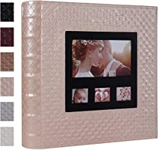 RECUTMS Photo Albums for 4x6 Photos Holds 600 Pockets Bound 5 Per Page Large Capacity Extra High Capacity for Family Weddi...