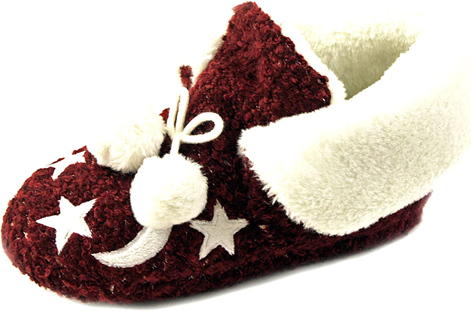 Luckers Women's Moon and Stars Slipper Boots