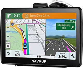 Car GPS Navigation, 7-inch 8GB HD Touch GPS Navigator, Voice Traffic Warning, Driving Alarm, with Sun Visor and Free Lifet...